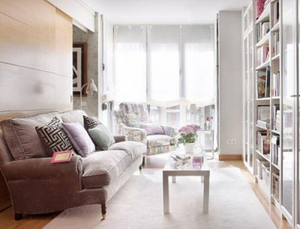 create the illusion of a larger space in your small living room
